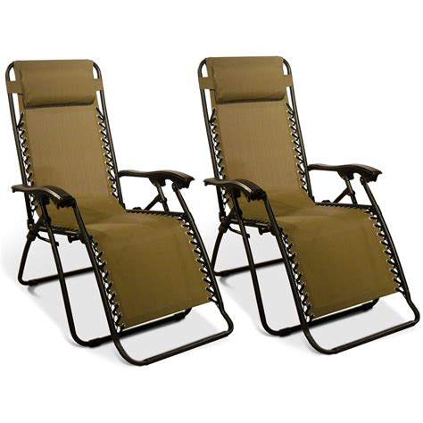 zero gravity recliner beige 2 pack caravan canopy 80009000152 recliners cing world