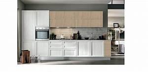 Cucina moderna vintage lineare ante legno essenza rovere for Ante cucina legno