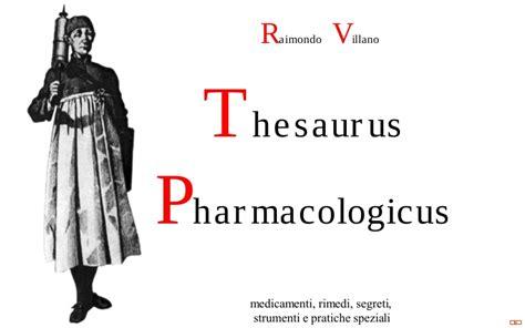raimondo villano thesaurus pharmacologicus capitolo