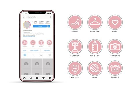Looking for a little more texture? Free Vector | Instagram icon stories highlights