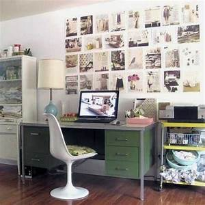 Modern home office decor ideas in vintage style