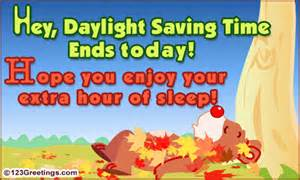 Extra Hour of Sleep Daylight Savings Time Ends