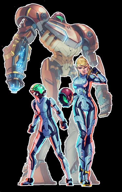 Metroid X Pacific Rim Crossover Created By Zededge