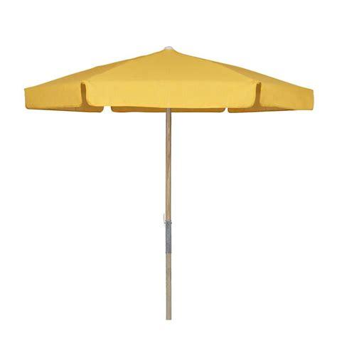 7 5 ft wood patio umbrella with yellow vinyl coated