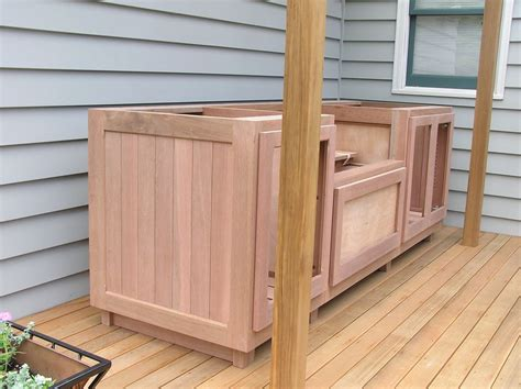 Outdoor Wood Cabinets by Wooden Outdoor Cabinet Search Mateo S Bbq