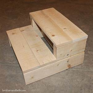 Super Simple Kid's DIY 2x4 Wood Step Stool - Beckham + Belle