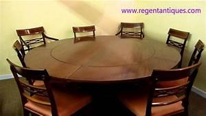 02639 Stunning 6ft Round English Mahogany Jupe Dining