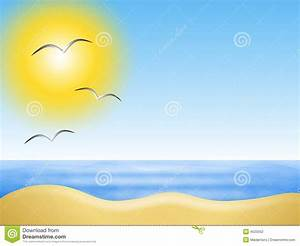 Sunny Summer Beach Background Stock Illustration - Image ...