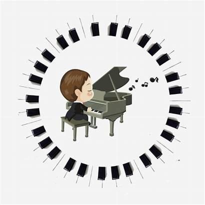 Piano Keys Clipart Notes Spiral Key Psd