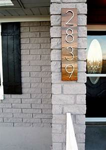 pretty house numbers curb appeal pinterest With exterior house letters