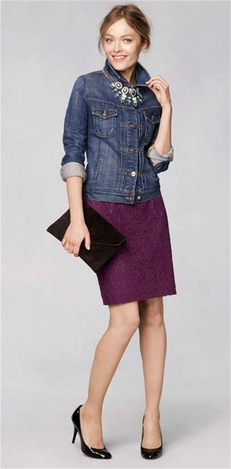 outfit idea wear fitted denim jacket   top statement