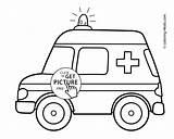 Ambulance Coloring Transportation Pages Printable 4kids sketch template