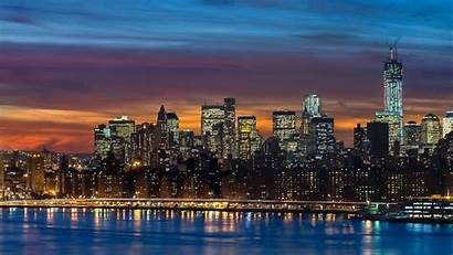 Skyline York Manhattan Panorama Wallpapers Panoramic 1080