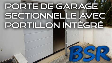 porte de garage sectionnelle avec portillon int 233 gr 233