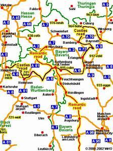 Karlsruhe Frankfurt Entfernung : landkarte bayern m nchen stra enkarte s ddeutschland deutschland entfernung autobahn frankfurt ~ Eleganceandgraceweddings.com Haus und Dekorationen