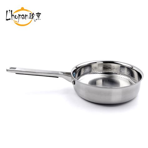 free shpping 4 layers stainless stainless steel frying pan stainless steel 3 layers frying