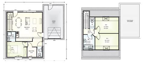 plan maison etage 2 chambres construction de 6 maisons individuelles à lambert la