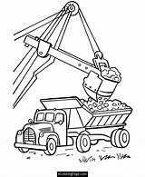 Coloring Truck Garbage Pages Excavator Printable Popular Dump sketch template