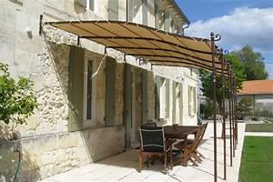 Toile Pour Terrasse : toile pergola sur mesure pour pergola metallique sur e davray ~ Premium-room.com Idées de Décoration