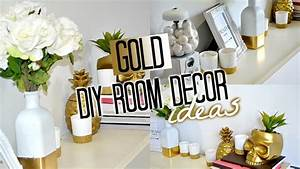 DIY Room Decor! GOLD Tobie Hickey - YouTube