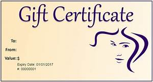 gift certificate template 34 free word outlook pdf With free printable hair salon gift certificate template