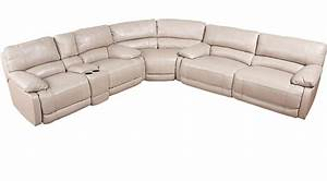 cindy crawford home auburn hills taupe leather 3 pc With 3 pc sectional sofa with recliners
