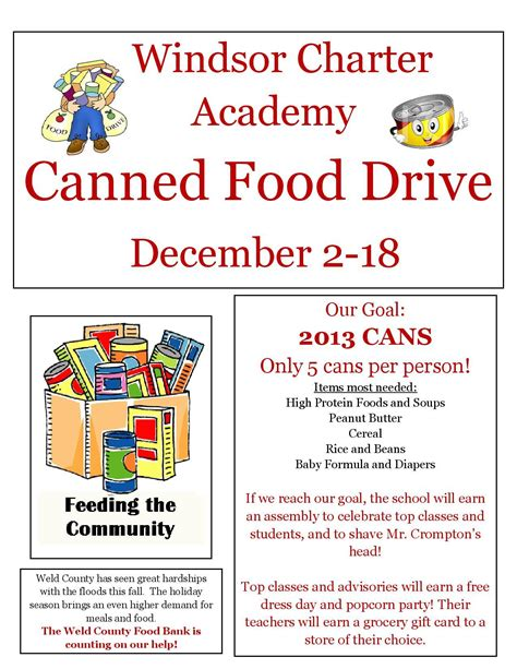 food drive flyer template word dlword