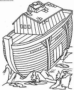 Desenhos Bíblicos para colorir - Arca de Noé - Escola Educação