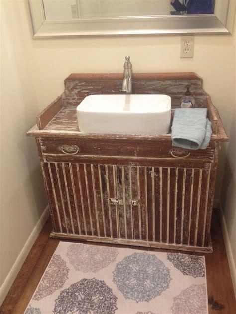 primitive dry sink     bathroom vanity