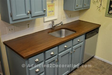 Staining Butcher Block Countertops by How I Stained And Sealed My Ikea Numerar Butcher Block