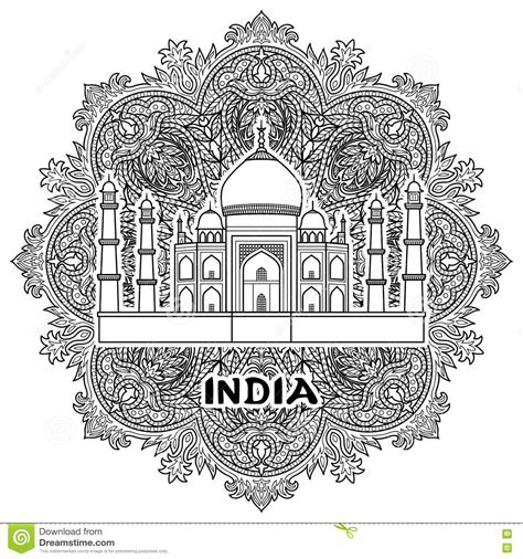 India Taj Mahal Stock Vector Illustration Of Landmark
