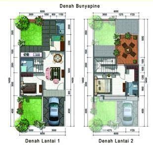 sketsa rumah minimalis  lantai type