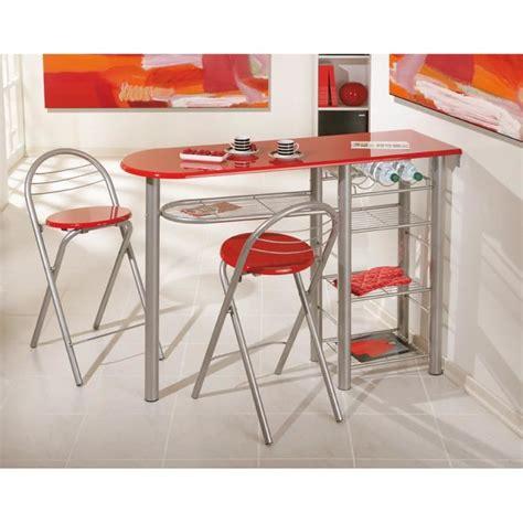 table de cuisine pratique table bar brigitte métal laqué meuble de cuisine