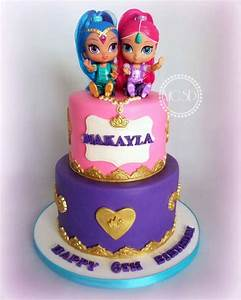 Shimmer And Shine Birthday Cake - CakeCentral com