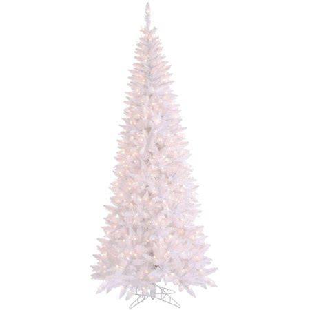 walmart in store pre lit slim tree on sale vickerman pre lit 6 5 white slim fir artificial tree clear lights walmart