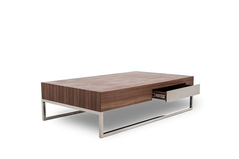 mirrored coffee table agate modern walnut coffee table