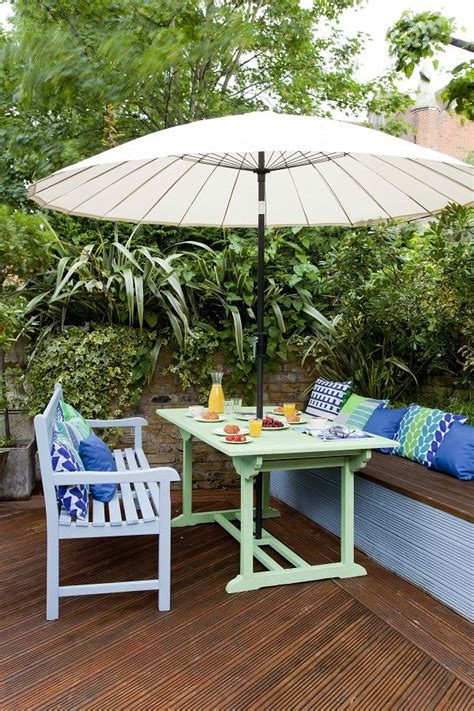 easy ideas  adding colour   garden garden teak