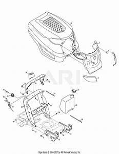 Troy Bilt 13an77kg011 Pony  2008  Parts Diagram For Hood  U0026 Control Assembly