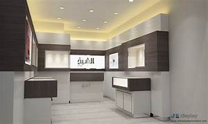 modern watch shop interior 3d design by walnut wood wall With best brand of paint for kitchen cabinets with large metal wall art for outside
