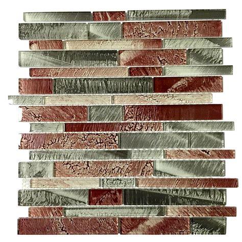 mosaic backsplash kitchen merola tile aspen subway 3 in x 6 in glass wall 4283