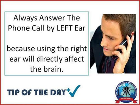 how to answer the phone health tip of the day always the answer the phone call by