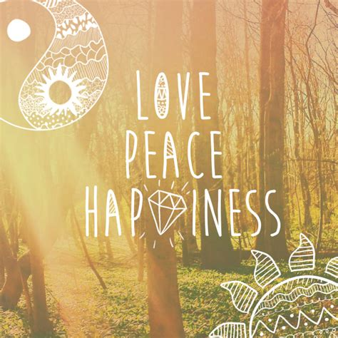 love peace  happiness clipart package