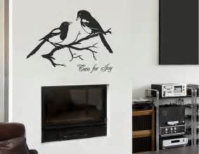 magpies two for joy vinyl wall sticker contemporary wall stickers