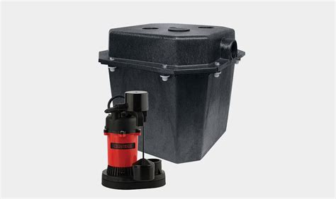pre plumbed sink tray system sump pump under sink sump package red lion
