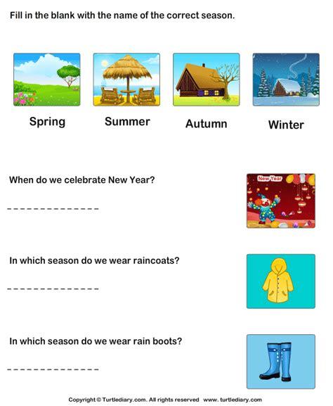 seasons   year worksheet turtle diary