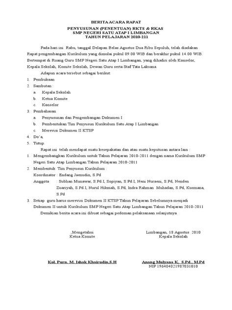 contoh berita acara rapat rkasdoc