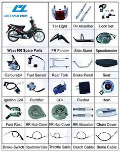 China Honda Wave 100cc Motorcycle Oem Parts
