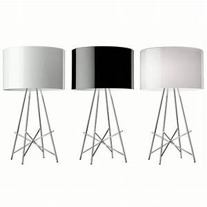 flos ray t dim table lamps black With ray t table lamp