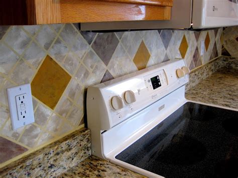 paint tile backsplash painted tile backsplashes pure paint pinterest