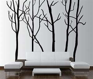 large wall tree decal forest kids vinyl sticker removable With good look big tree decals for walls
